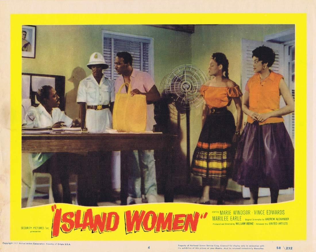 ISLAND WOMEN Lobby Card 4 Marie Windsor Vince Edwards