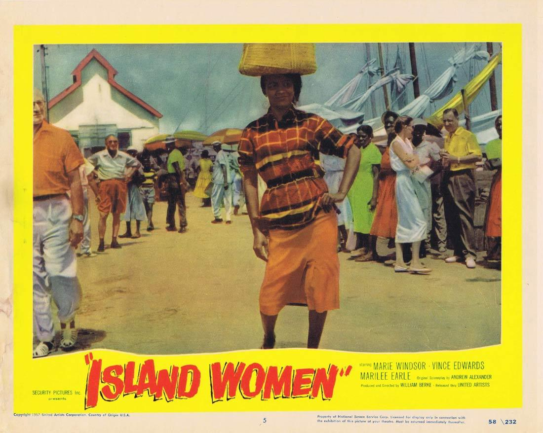 ISLAND WOMEN Lobby Card 5 Marie Windsor Vince Edwards