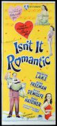 ISN'T IT ROMANTIC Original Daybill Movie Poster VERONICA LAKE Richardson Studio