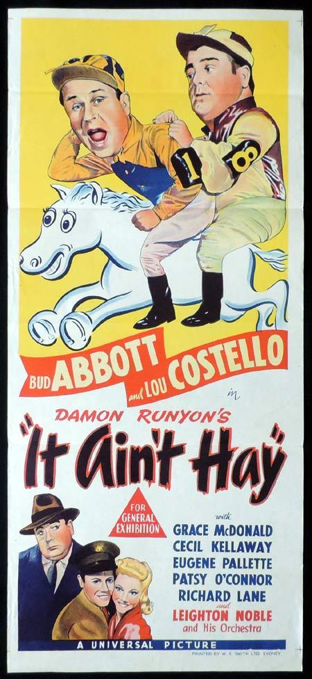 IT AINT HAY Original Daybill Movie poster Abbott and Costello