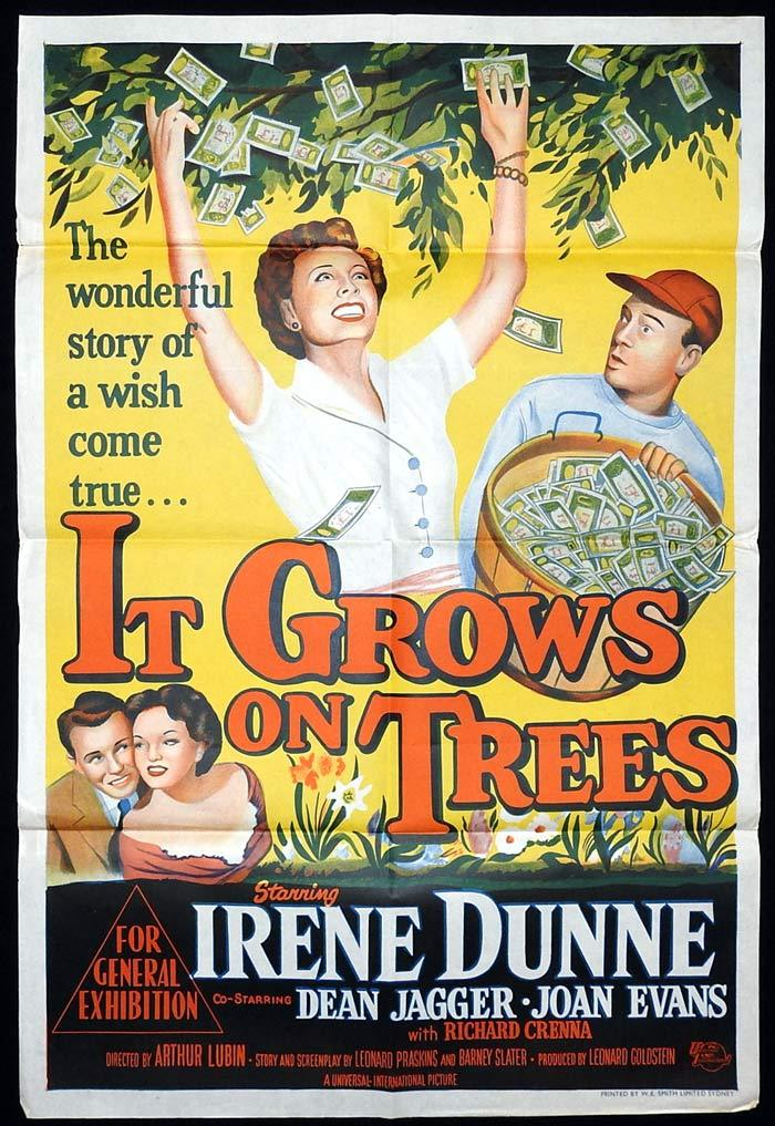 IT GROWS ON TREES Original One sheet Movie poster Irene Dunne Dean Jagger