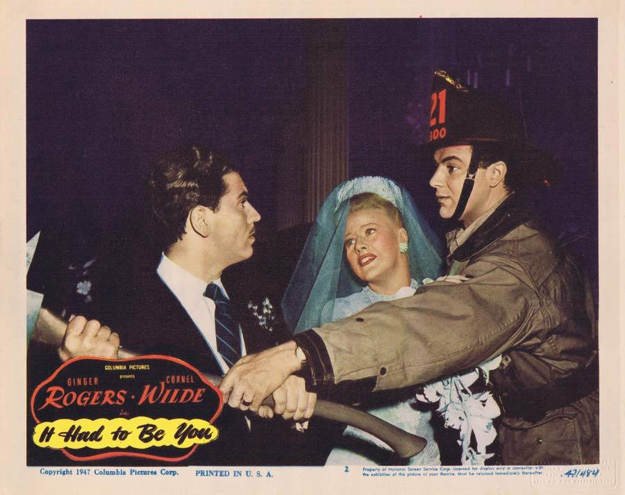 IT HAD TO BE YOU Lobby Card 2 Ginger Rogers Cornel Wilde