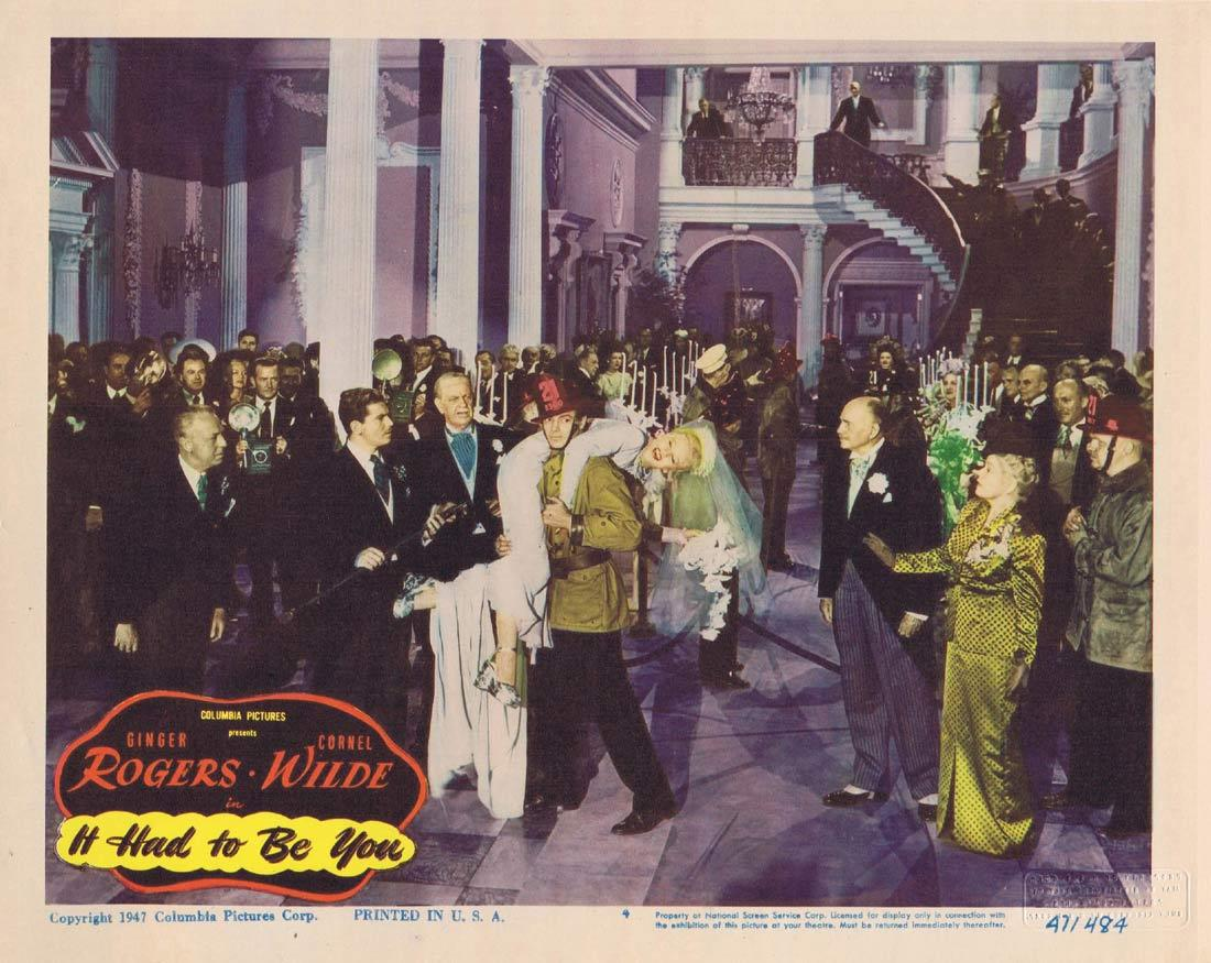 IT HAD TO BE YOU Lobby Card 4 Ginger Rogers Cornel Wilde