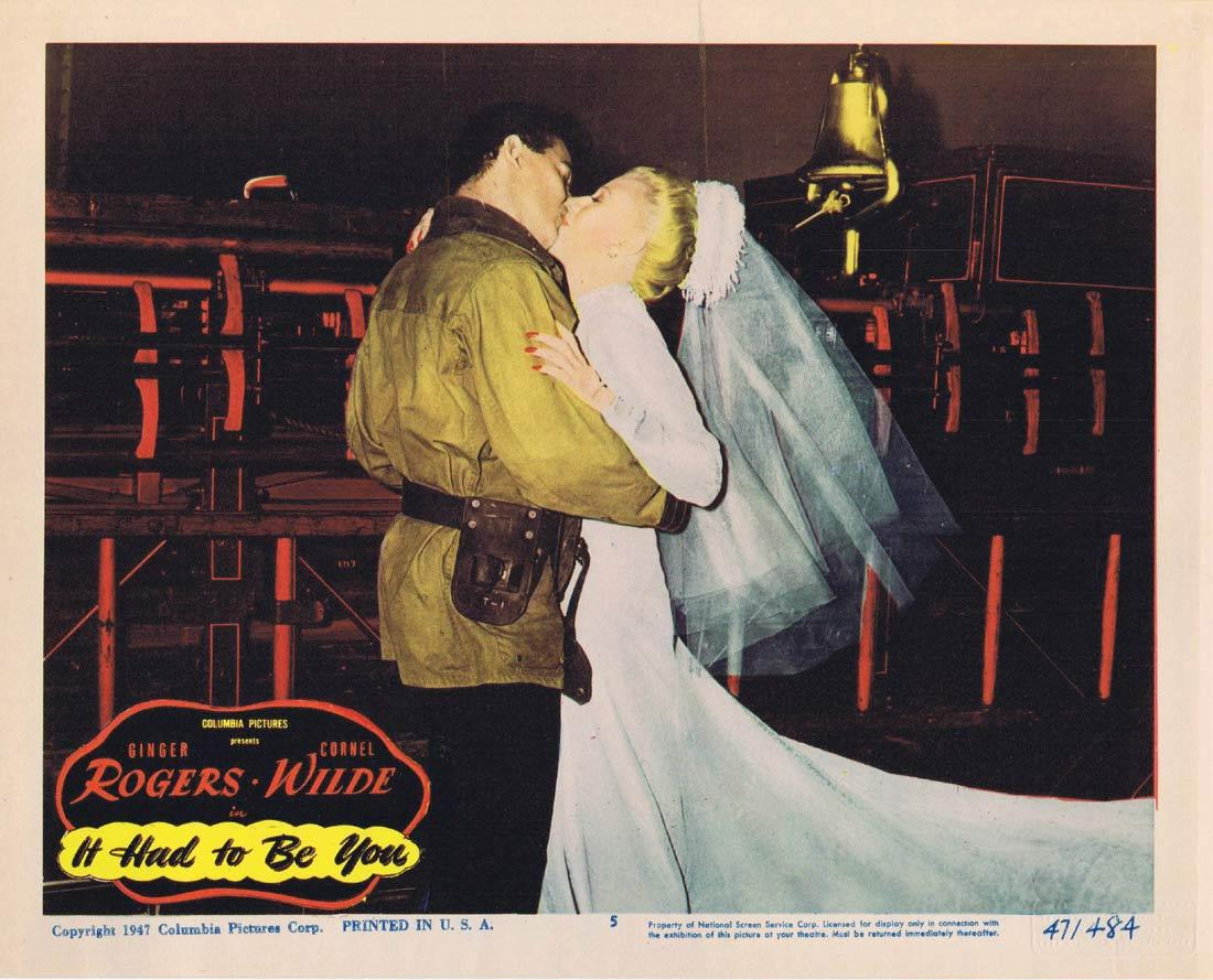 IT HAD TO BE YOU Lobby Card 5 Ginger Rogers Cornel Wilde
