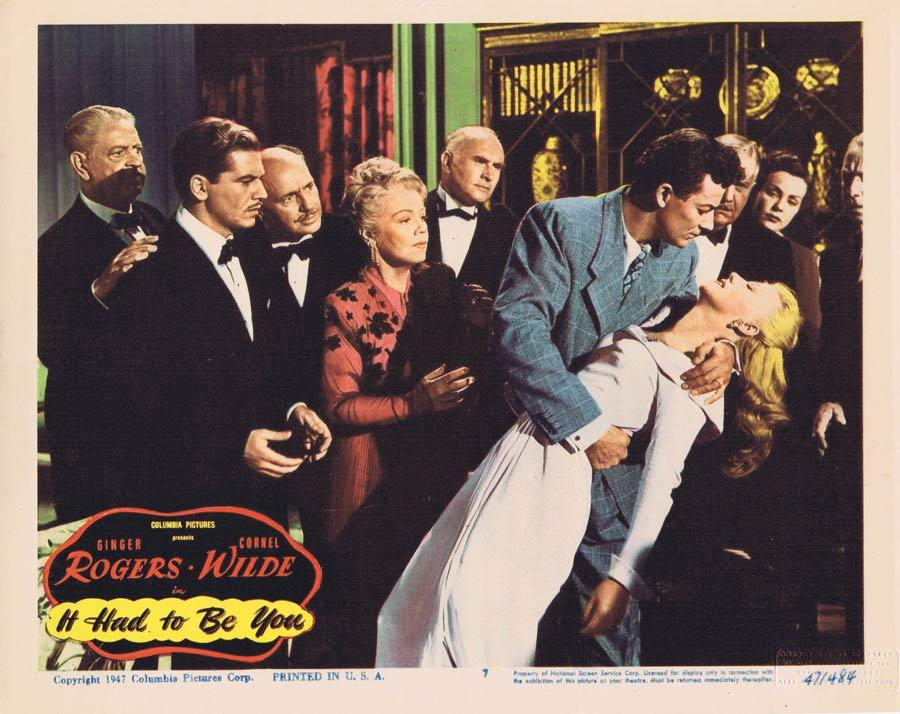 IT HAD TO BE YOU Lobby Card 7 Ginger Rogers Cornel Wilde