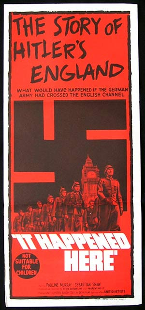 IT HAPPENED HERE '66 Hitler's England RARE poster