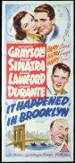 IT HAPPENED IN BROOKLYN Original Daybill Movie Poster Kathryn Grayson Frank SInatra