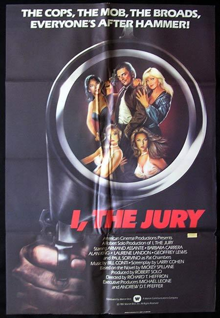 I THE JURY Original One sheet Movie poster Mickey Spillane Armand Assante