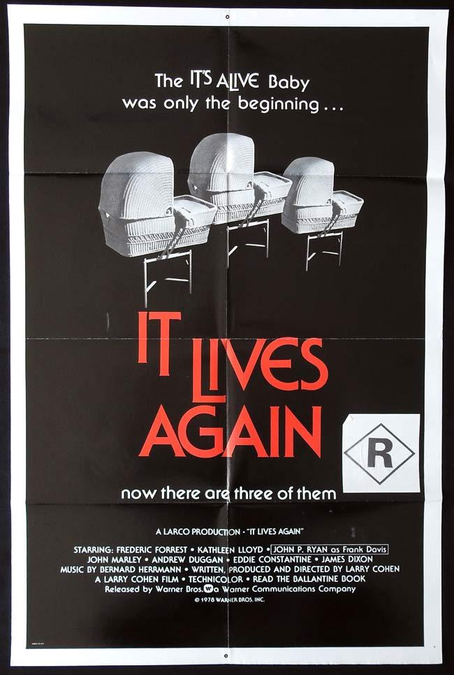 IT LIVES AGAIN Original One sheet Movie poster HORROR Frederic Forrest