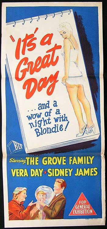 ITS A GREAT DAY Sidney James Daybill Movie poster