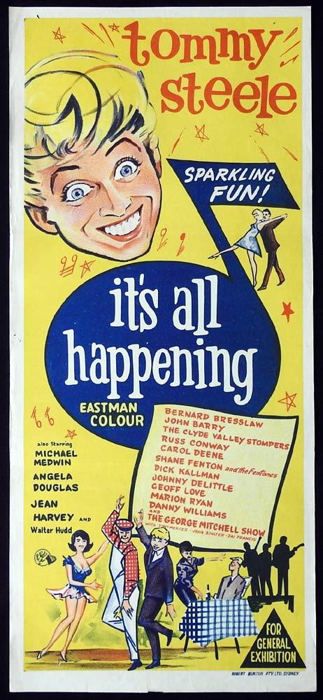ITS ALL HAPPENING aka DREAM MAKER Original Daybill Movie Poster Tommy Steele