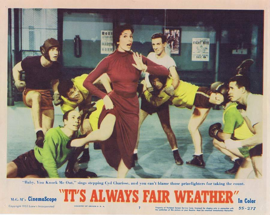 ITS ALWAYS FAIR WEATHER Lobby Card Cyd Charisse Musical