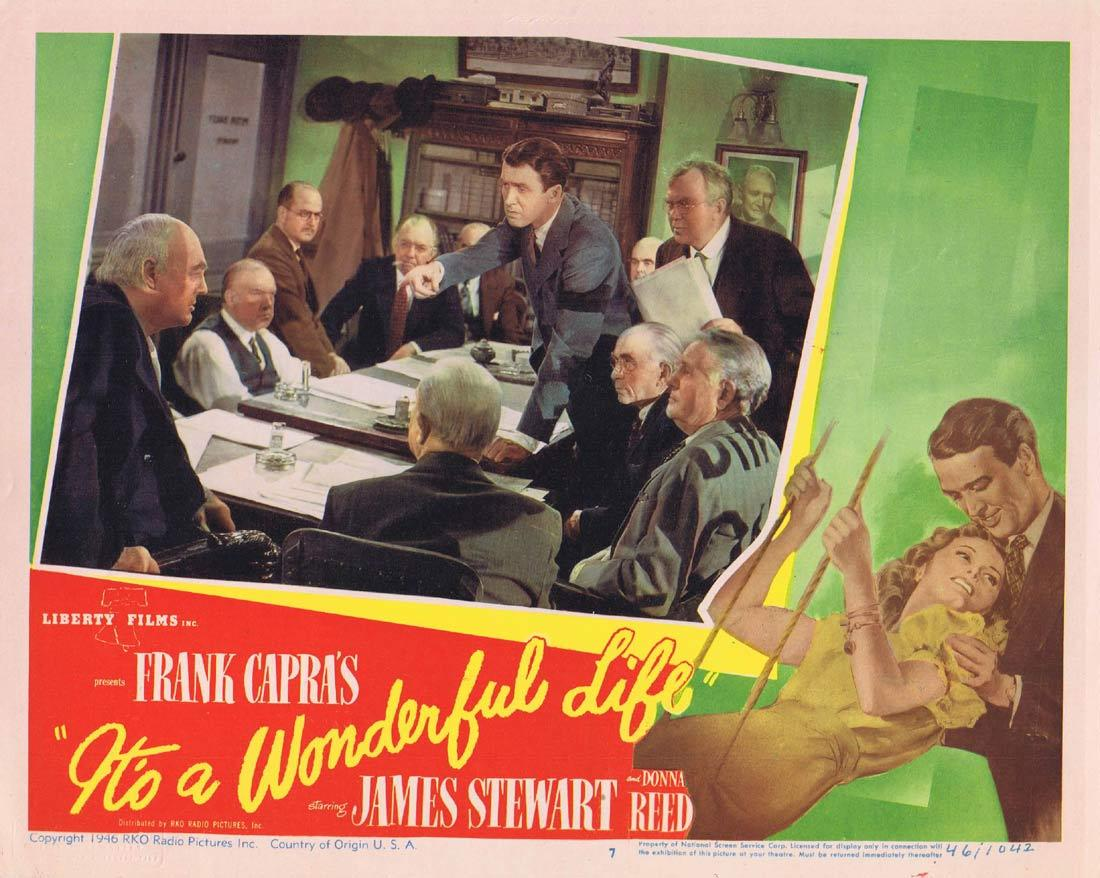 IT'S A WONDERFUL LIFE Vintage Lobby Card Donna Reed James Stewart Its