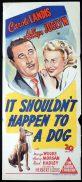 IT SHOULDN'T HAPPEN TO A DOG Original Daybill Movie Poster Carole Landis