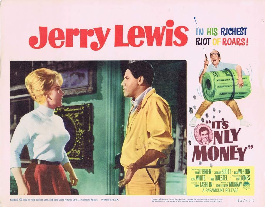 IT'S ONLY MONEY Lobby Card 1 Jerry Lewis