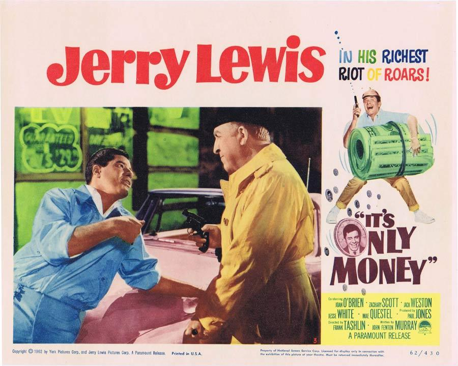 IT'S ONLY MONEY Lobby Card 3 Jerry Lewis