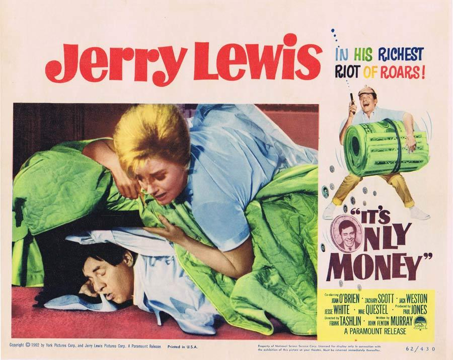IT'S ONLY MONEY Lobby Card 4 Jerry Lewis