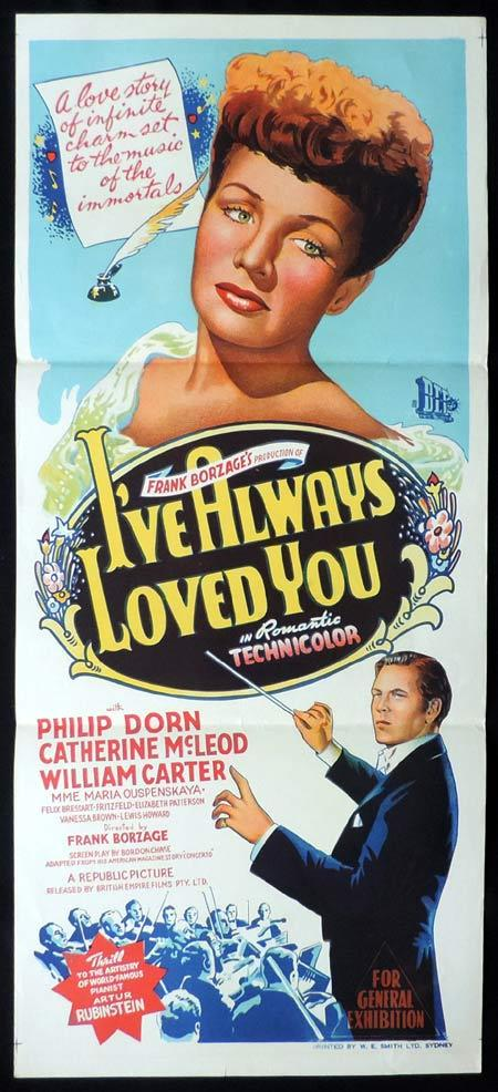 I've Always Loved You, Frank Borzage, Philip Dorn, Catherine McLeod, Bill Carter, Maria Ouspenskaya