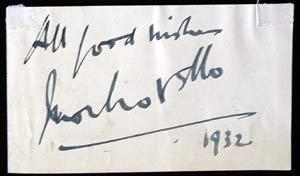 IVOR NOVELLO 1932 – Autographed Album page