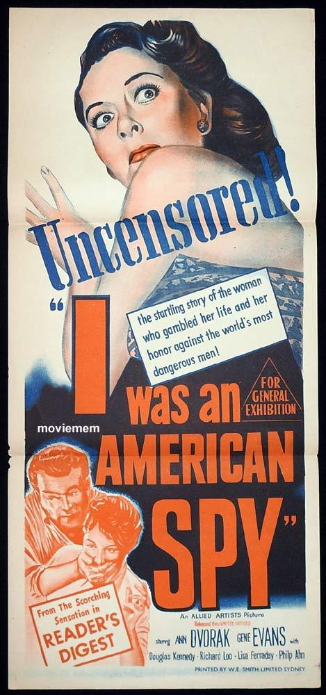 I WAS AN AMERICAN SPY Original Daybill Movie poster Ann Dvorak
