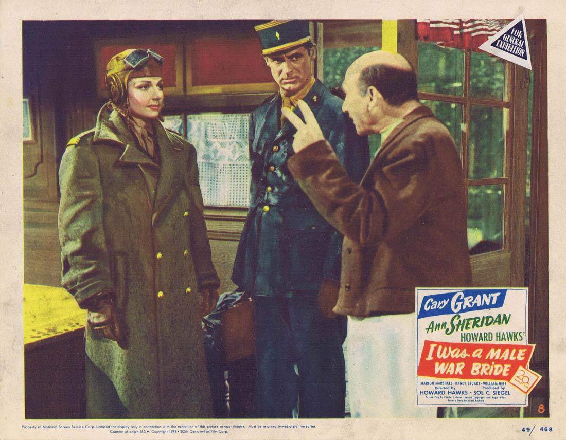 I WAS A MALE WAR BRIDE Lobby Card 8 Cary Grant Ann Sheridan Marion Marshall