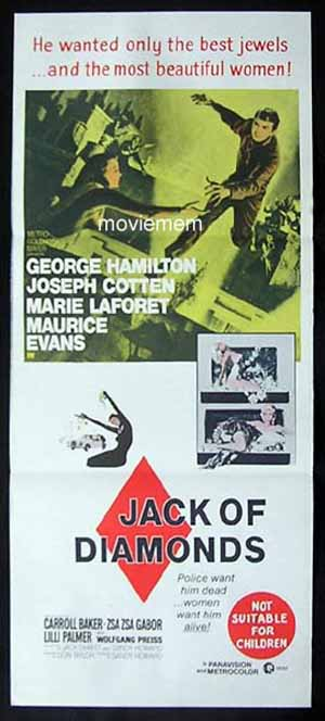 JACK OF DIAMONDS '67-Hamilton-Cotten-ORIGINAL poster
