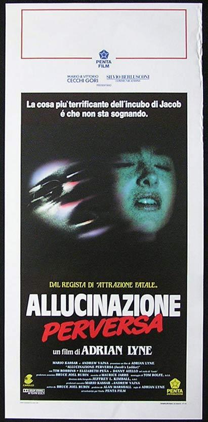 JACOB'S LADDER Italian Locandina Movie Poster Adrian Lyne Tim Robbins