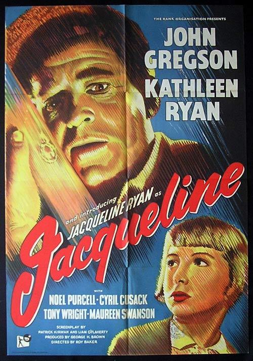 JACQUELINE Movie Poster 1956 John Gregson British Cinema One sheet