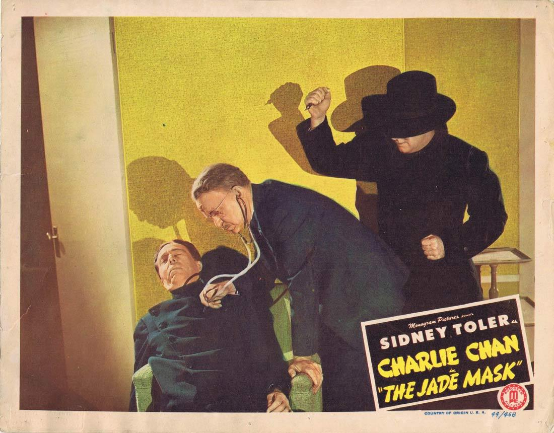 THE JADE MASK Lobby Card Sidney Toler as Charlie Chan
