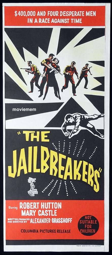 THE JAILBREAKERS Original Daybill Movie Poster Robert Hutton Mary Castle