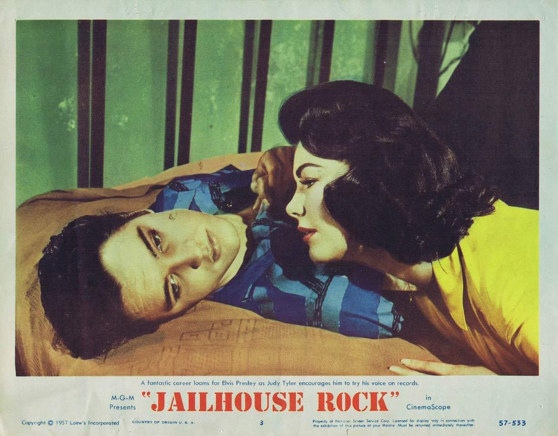 JAILHOUSE ROCK Original Lobby Card 3 Elvis Presley 1957