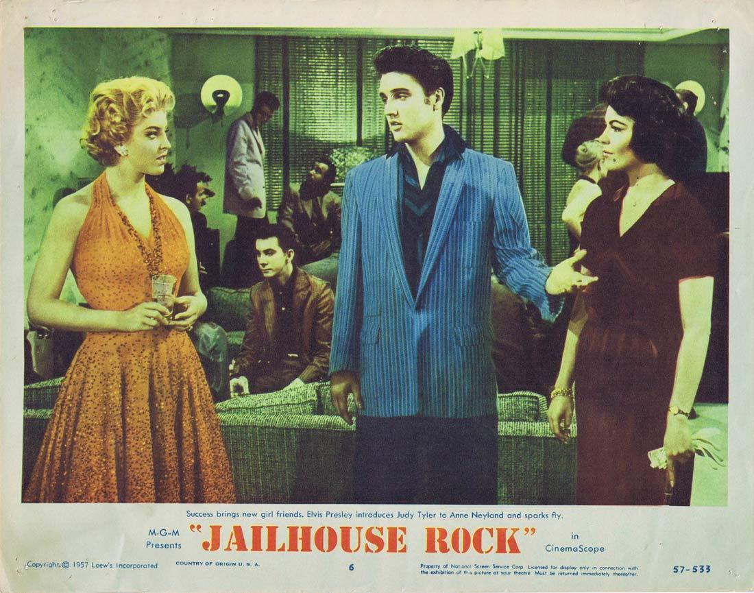 JAILHOUSE ROCK Original Lobby Card 6 Elvis Presley 1957