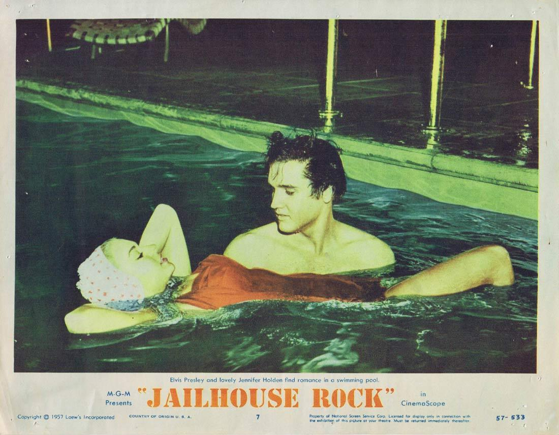 JAILHOUSE ROCK Original Lobby Card 7 Elvis Presley 1957
