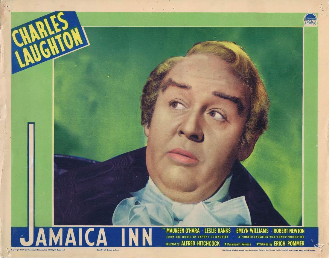 JAMAICA INN Lobby card 1939 Hitchcock CHARLES LAUGHTON Portrait
