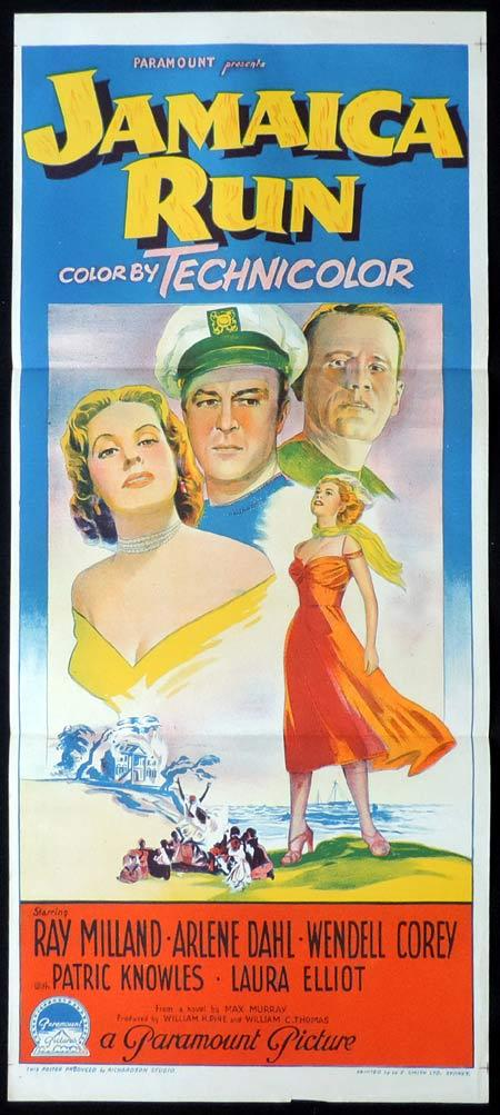 JAMAICA RUN Original Daybill Movie Poster Ray Milland Richardson Studio