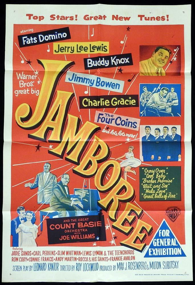 JAMBOREE Original One sheet Movie Poster Fats Domino Jerry Lee Lewis