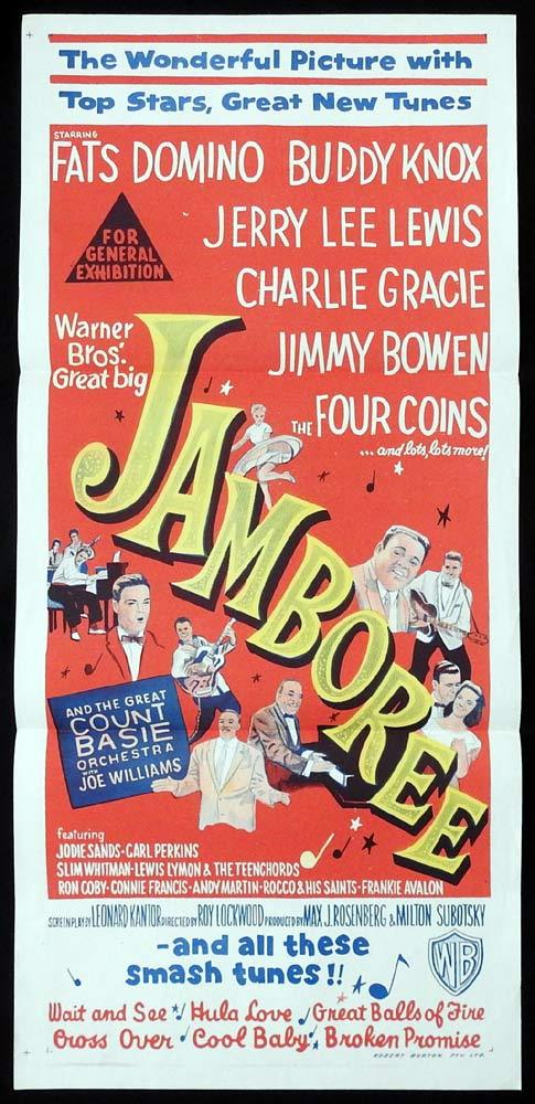 JAMBOREE Original Daybill Movie Poster Fats Domino Jerry Lee Lewis