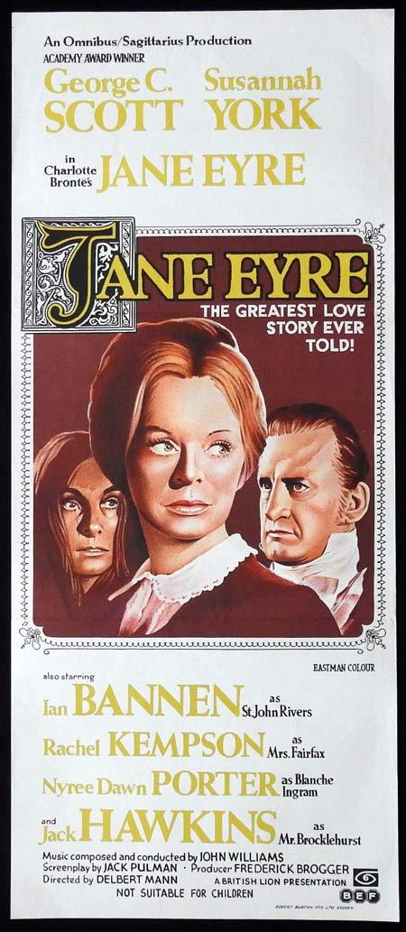 JANE EYRE Original Daybill Movie Poster SUSANNAH YORK George C.Scott