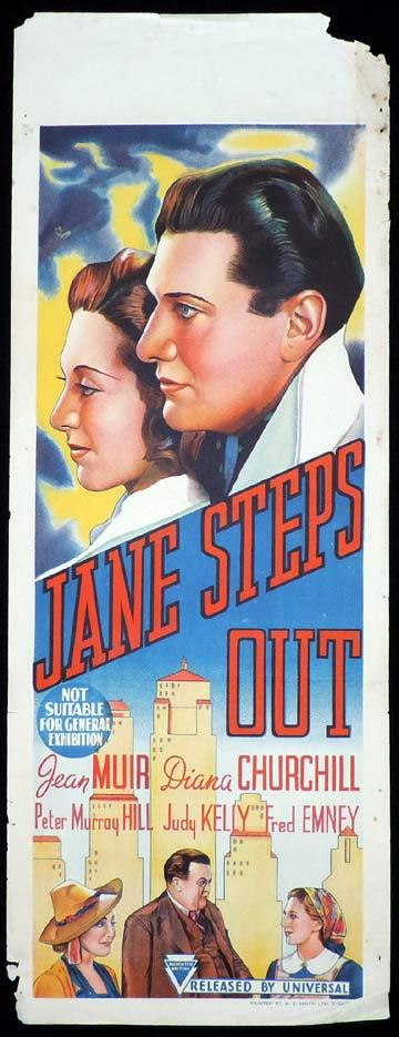 JANE STEPS OUT Long Daybill Movie poster 1938 Diana Churchill