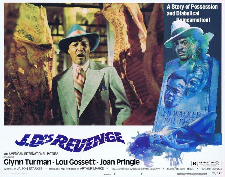 J.D.s REVENGE Lobby card 6 Horror REINCARNATION Blaxploitation Glynn Turman