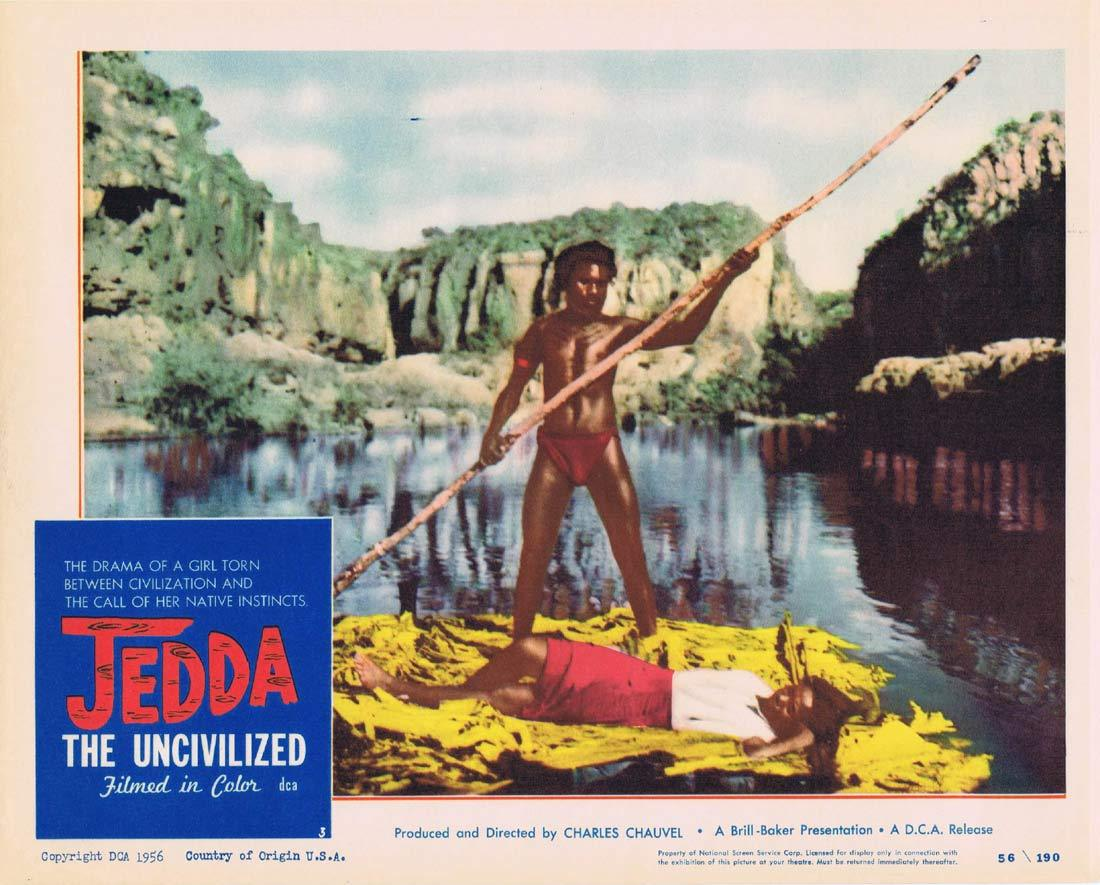 JEDDA THE UNCIVILIZED Lobby Card 3 1955 Charles Chauvel Aboriginal