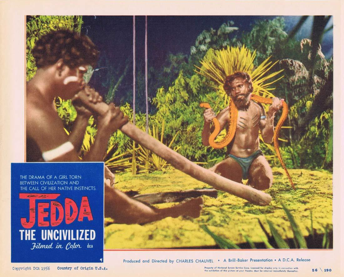 JEDDA THE UNCIVILIZED Lobby Card 4 1955 Charles Chauvel Aboriginal Didgeridoo