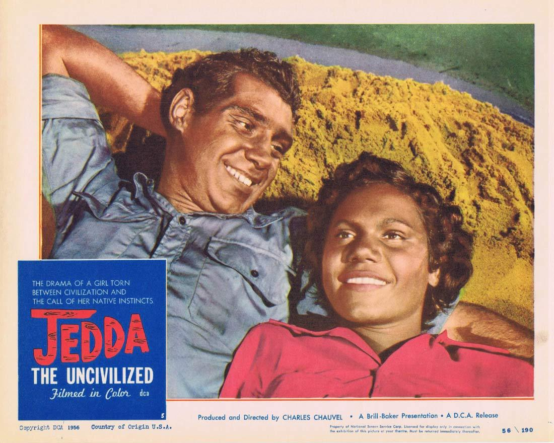JEDDA THE UNCIVILIZED Lobby Card 5 '55 Charles Chauvel Aboriginal Robert Tudawali