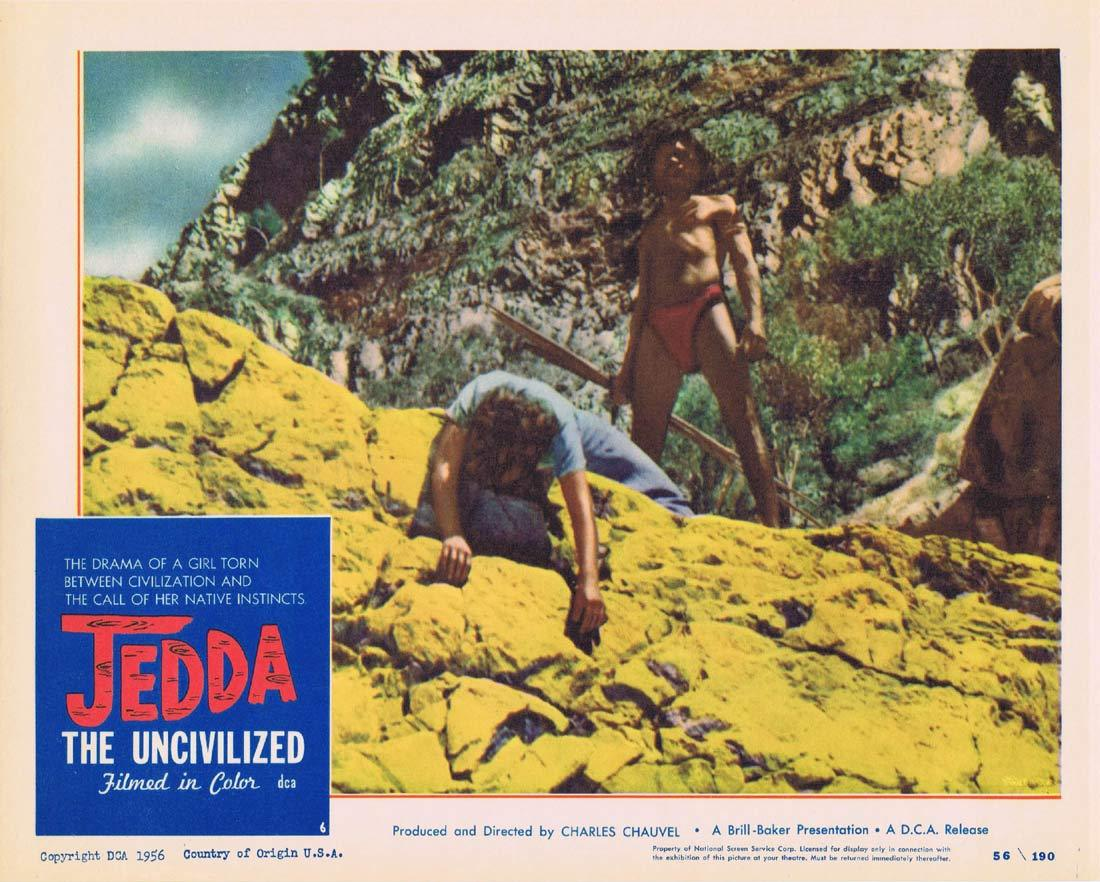 JEDDA THE UNCIVILIZED Lobby Card 6 1955 Robert Tudawali Charles Chauvel