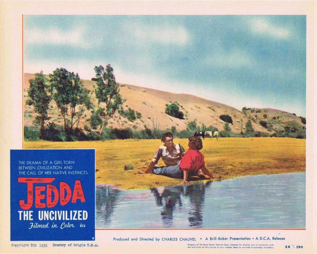 JEDDA THE UNCIVILIZED Lobby Card 7 1955 Charles Chauvel Aborginal Ngarla Kunoth