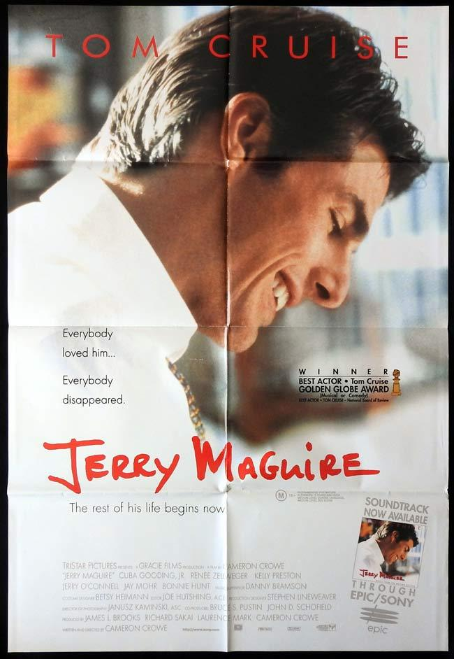 JERRY MAGUIRE Original One sheet Movie poster Cuba Gooding Jr Tom Cruise
