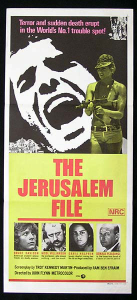THE JERUSALEM FILE Original Daybill Movie Poster Nicol Williamson Bruce Davison