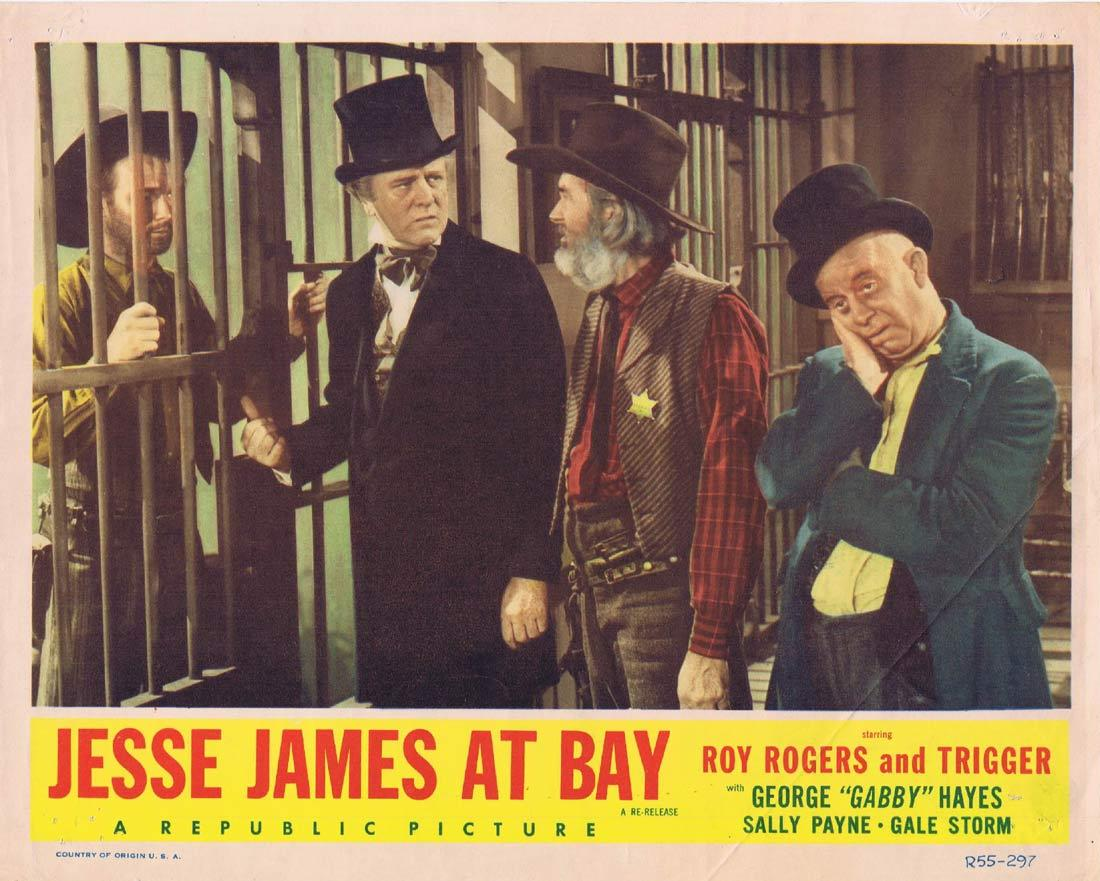 JESSE JAMES AT BAY Original Lobby Card Roy Rogers Ruth Terry 1955r