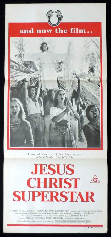 JESUS CHRIST SUPERSTAR Original Daybill Movie Poster Ted Neeley