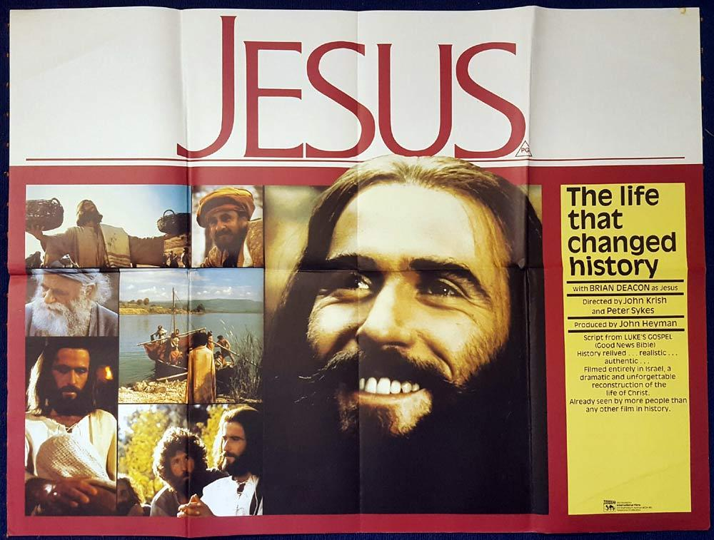 JESUS Original British Quad poster Brian Deacon